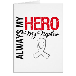 Cáncer del pulmón y de hueso - siempre mi héroe mi tarjetas