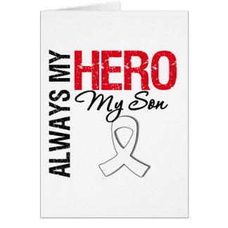 Cáncer del pulmón y de hueso - siempre mi héroe mi tarjeta