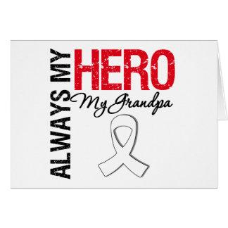 Cáncer del pulmón y de hueso - siempre mi héroe mi tarjeton