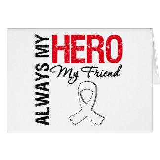 Cáncer del pulmón y de hueso - siempre mi héroe mi felicitación