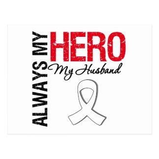 Cáncer del pulmón y de hueso - siempre mi héroe mi tarjeta postal