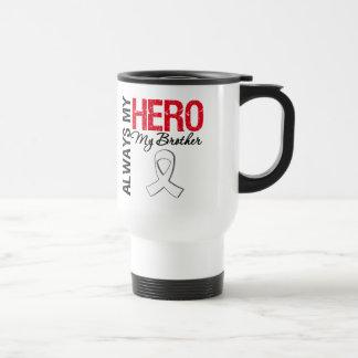 Cáncer del pulmón y de hueso - siempre mi héroe mi taza de viaje