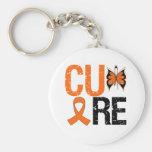 Cáncer del riñón de la curación (cinta anaranjada) llavero