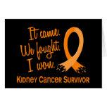 Cáncer del riñón del superviviente 11 tarjetón