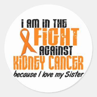 CÁNCER del RIÑÓN en la lucha para mi hermana 1 Pegatina Redonda