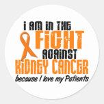 CÁNCER del RIÑÓN en la lucha para mis pacientes 1 Pegatinas Redondas
