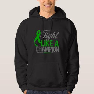 Cáncer del riñón - lucha como un campeón jersey encapuchado