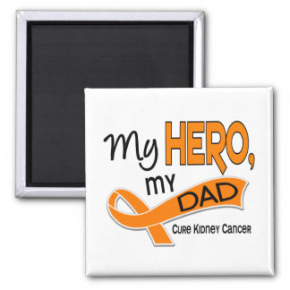Cáncer del riñón MI HÉROE MI PAPÁ 42 Imán Cuadrado
