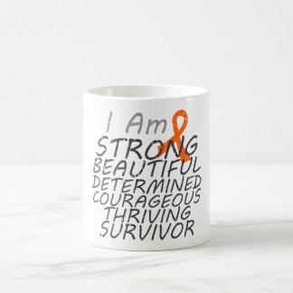 Cáncer del riñón soy superviviente fuerte taza