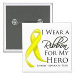 Cáncer del sarcoma llevo una cinta para mi héroe pin