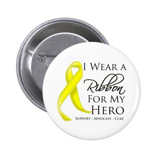 Cáncer del sarcoma llevo una cinta para mi héroe pins