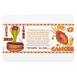 Cáncer del zodiaco de la serpiente de madera 2025  imanes de vinilo