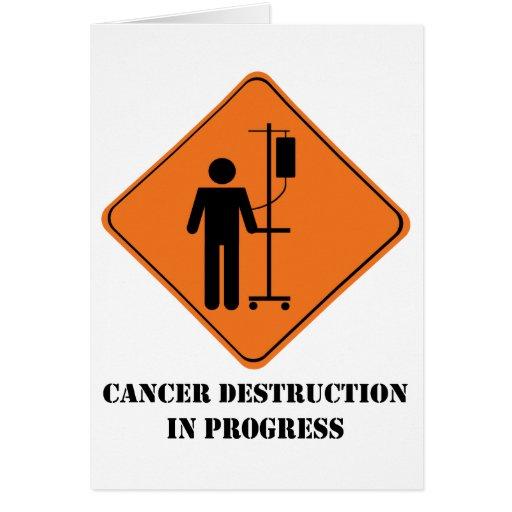 Cancer destruction in progress notecard greeting cards