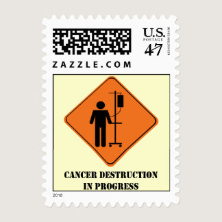 Cancer destruction in progress stamp