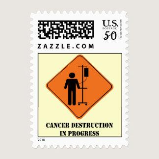 Cancer destruction in progress stamp