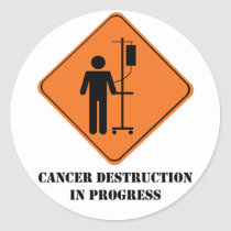 cancer destruction in progress- sticker sheet