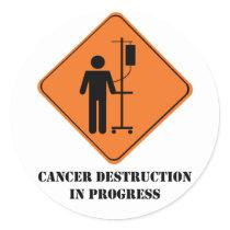 cancer destruction in progress- sticker sheet