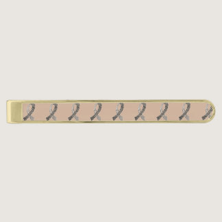 Cancer Disease Awareness Ribbon Pick Any Color Gold Finish Tie Clip