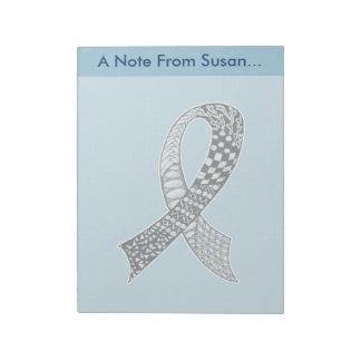 Cancer Disease Awareness Ribbon Pick Any Color Notepad