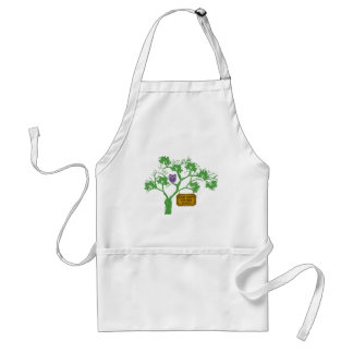 Cancer Doesn't Live Here Tree Owl Adult Apron