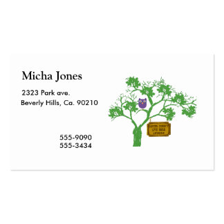 Cancer Doesn't Live Here Tree Owl Double-Sided Standard Business Cards (Pack Of 100)