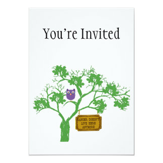 Cancer Doesn't Live Here Tree Owl Card