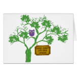 Cancer Doesn't Live Here Tree Owl Greeting Card