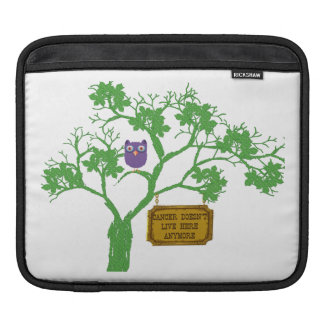 Cancer Doesn't Live Here Tree Owl iPad Sleeve