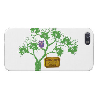Cancer Doesn't Live Here Tree Owl iPhone 5 Covers
