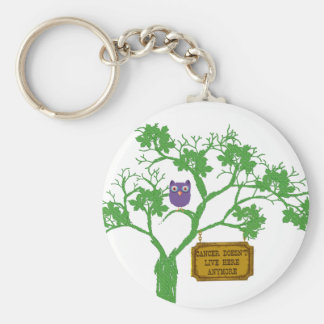 Cancer Doesn't Live Here Tree Owl Keychain