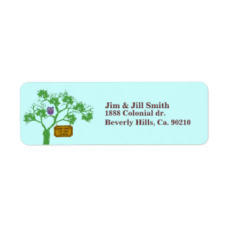 Cancer Doesn't Live Here Tree Owl Custom Return Address Label