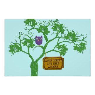 Cancer Doesn't Live Here Tree Owl Print