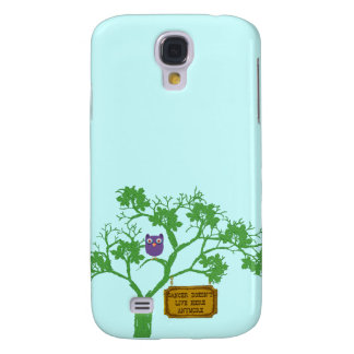 Cancer Doesn't Live Here Tree Owl Samsung Galaxy S4 Cover