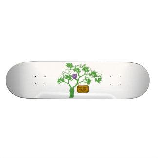 Cancer Doesn't Live Here Tree Owl Custom Skateboard