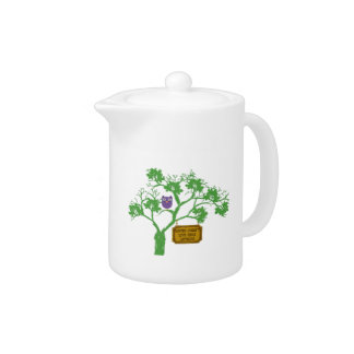 Cancer Doesn't Live Here Tree Owl Teapot