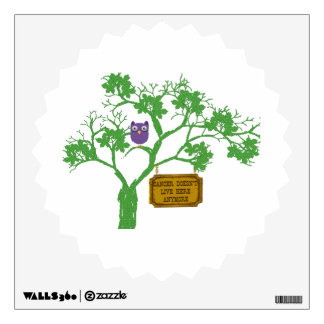 Cancer Doesn't Live Here Tree Owl Wall Sticker