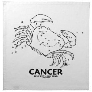 Cáncer el cangrejo (21 de junio - 22 de julio) servilleta de papel