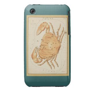 Cáncer el cangrejo - muestra del vintage de la funda para iPhone 3 de Case-Mate