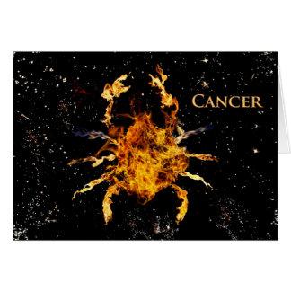 Cáncer el cangrejo tarjeta de felicitación