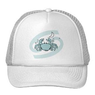 Cáncer el gorra gráfico azul del zodiaco de la ast