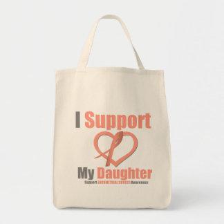 Cáncer endometrial apoyo a mi hija bolsa tela para la compra