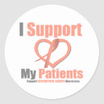 Cáncer endometrial apoyo a mis pacientes etiquetas redondas