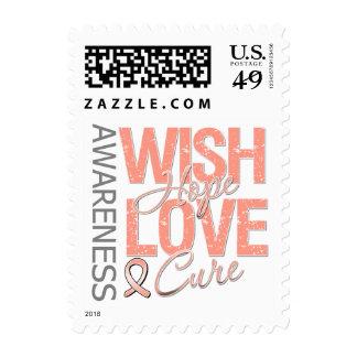 Cáncer endometrial de la curación del amor de la sello