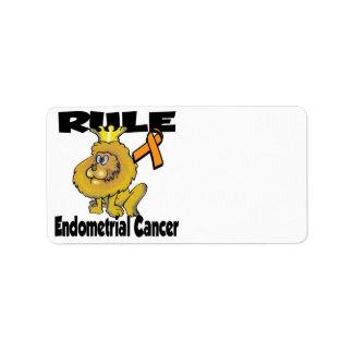 Cáncer endometrial de la regla etiqueta de dirección