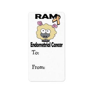 Cáncer endometrial de RAM Etiquetas De Dirección