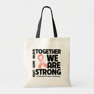 Cáncer endometrial juntos somos fuertes bolsa tela barata