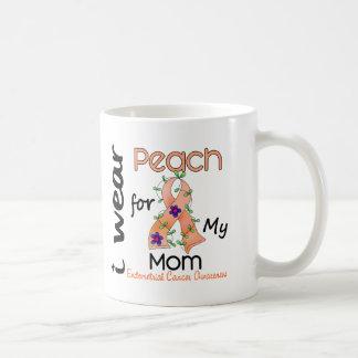 Cáncer endometrial llevo el melocotón para mi mamá taza