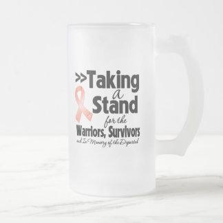 Cáncer endometrial que toma un tributo del soporte tazas