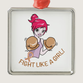 CANCER FIGHT-CHILDHOOD METAL ORNAMENT