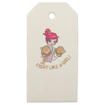 CANCER FIGHT-CHILDHOOD WOODEN GIFT TAGS
